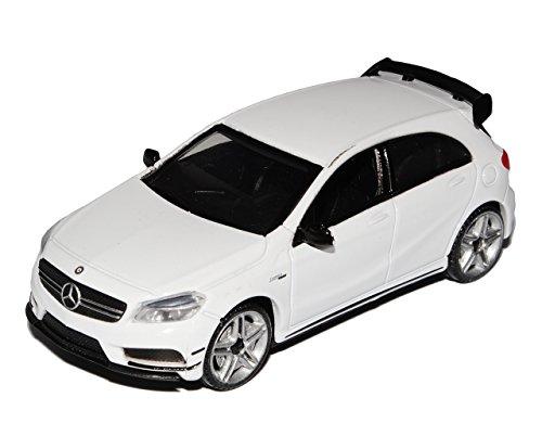 Motormax Mercedes-Benz A-Klasse W176 A 45 AMG 5 Türer Weiss Ab 2012 1/43 Modell Auto mit individiuellem Wunschkennzeichen