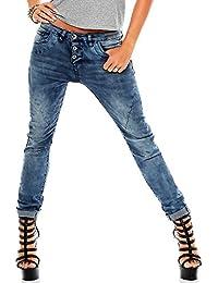 Sublevel Damen 5-Pocket Boyfriend Jeans LSL-245 Washed-Look
