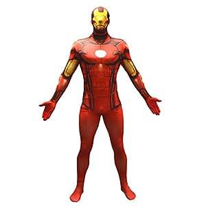 Offizieller Iron Man Basic Morphsuit, Verkleidung, Kostüm - Medium - 5'-5'4 (150cm-162cm)