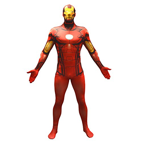 Offizieller Iron Man Basic Morphsuit, Verkleidung, Kostüm - Medium - 5'-5'4 (Morphsuit Superhelden)