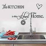 Autocollant mural Art Wall Sticker La cuisine est le cœur de la maison pour la décoration de la cuisine Sticker mural PVC amovible peintures murales Art Home Decor 115 * 43
