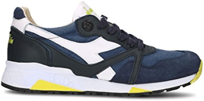 Diadora Heritage Herren 172779N900060065 Blau Leder Sneakers