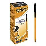 BIC 8099231 - Paquete de 20 bolígrafos de tinta negra, naranja