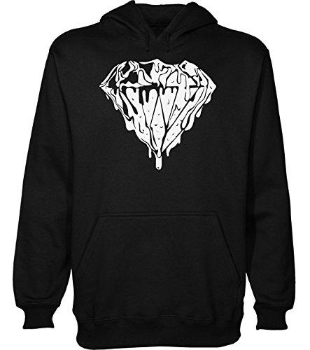 Liquid Diamond Design Men's Hoodie Pullover