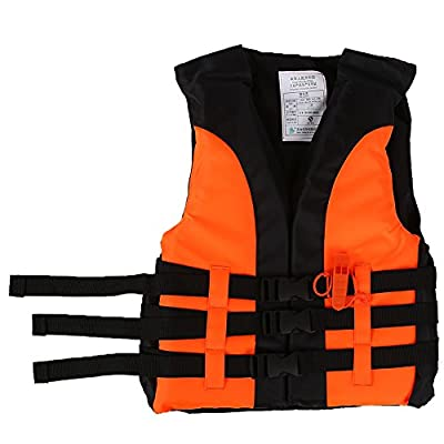 Yosoo Kids Life Vest Children Life Jacket Swimming Boating Drifting Safety Jacket Survival Suit Buoyancy Float Vest Swim Jacket With Whistle for Child Outdoor Water Sport by Yosoo
