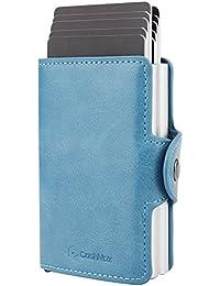 Porta Carta di Credito - CashNox Porta Carte di Credito RFID, Pop-up Pulsante