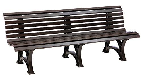 Sitzbank/Gartenbank 4-Sitzer: Borkum, Länge 200cm, braun (hochwertiger Kunststoff, Parkbank Made in...