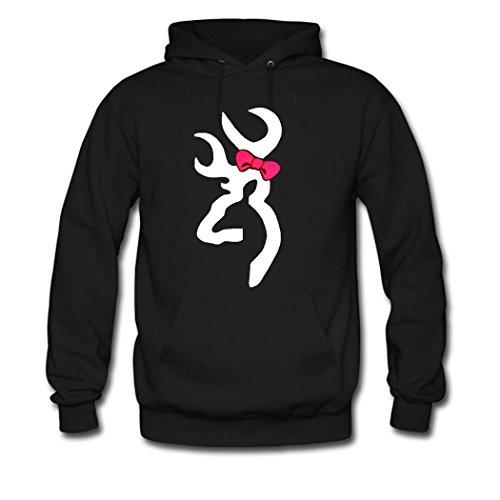weileDIY Browning DIY Custom Women's Printed Hoodie Sweatshirt Black_B