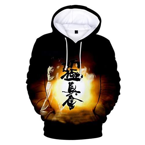 Boy Kostüm Karate - FLY BOY Herren Hoodie Für Kyokushin Karate Element,Mode Freizeit 3D Drucken Muster Langarm Hoodie,Unisex Polyester Bequem Atmungsaktiv Hoodie S-4XL,C,M