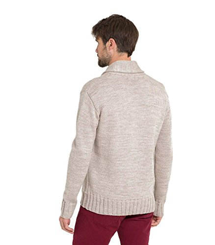 WoolOvers Pull col châle - Homme - Pure laine Oatmeal