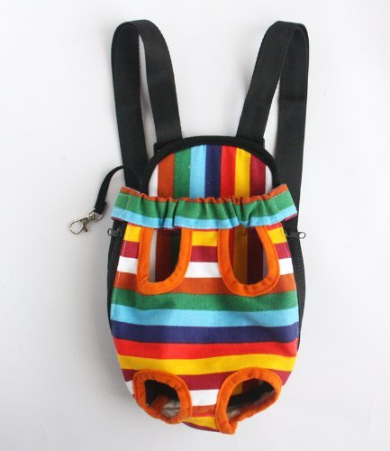 Water & Wood Colorful Cotton Canvas Puppy Pet Dog Carrier Front Backpack Net Bag Large