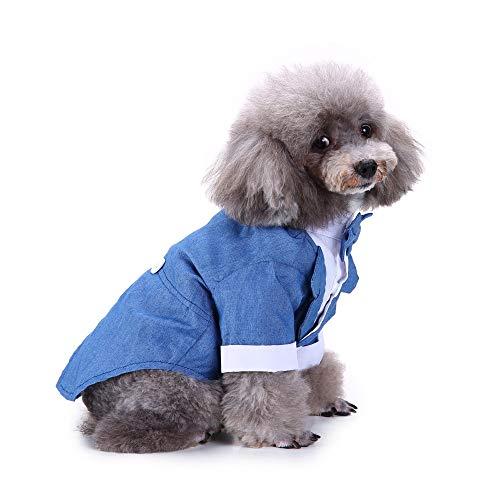 ELLANM Haustier Hund Kostüm Dapper Suit Pet Kleidung -
