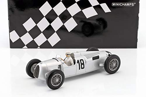 Minichamps 155361018 1: 18 AUTO UNION Typ C – Bernd Rosemeyer – Winner Internationales Eifelrennen 1936