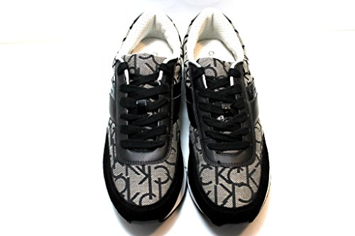 Calvin Klein Jeans Juan Ck Logo Jacquard/Suede, Espadrillas Basse Uomo Granite
