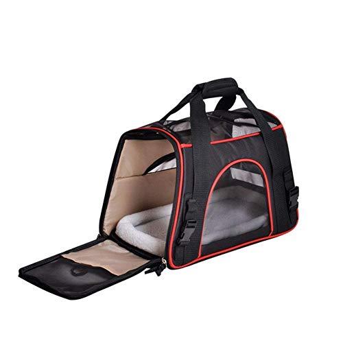 Nilefen Katzenträger, Soft-Sided Pet Travel Carrier für Katzen, Hunde Welpenkomfort Tragbare Faltbare Pet Bag Airline Approved Black (Large)