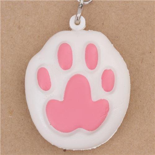 ier Squishy Anhänger mit pinker Katzenpfote ()