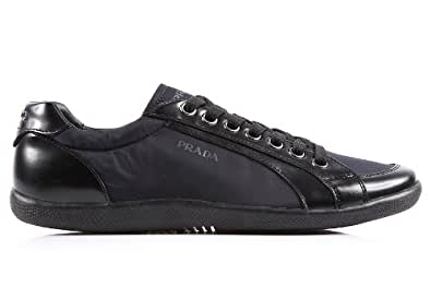 Prada men s shoes leather trainers sneakers navy UK size 7 4E1835 ... 3461a0ab8