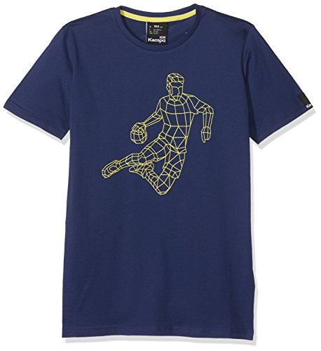 Kempa Herren Polygon Player T-Shirt, Deep Blau, S