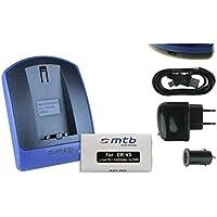 Batteria + Caricabatteria (USB/Auto/Corrente) CR-V3 per Kodak, Olympus, Pentax, Sigma,