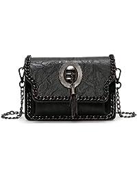 7987929b7a5cf Fishbag Umhängetasche PU Leder Damen Taschen Messenger Tasche mit Kette  Quaste Vintage Kleine Abendtasche Neu Schicke…