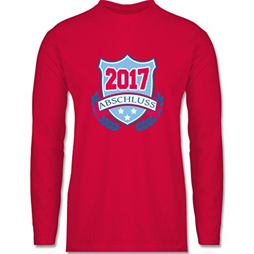 Abi & Abschluss - ABSCHLUSS 2017 Badge - Longsleeve / langärmeliges T-Shirt für Herren Rot
