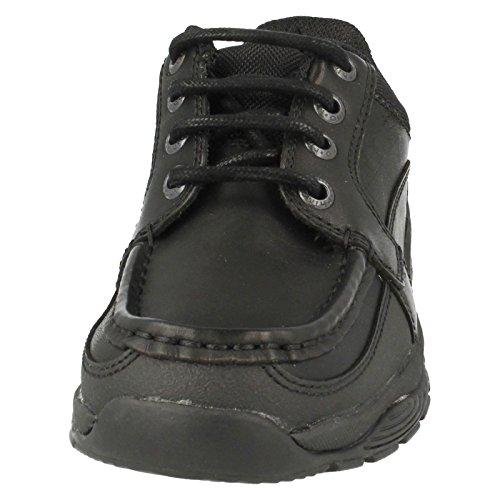 Rhino , Chaussures de ville à lacets pour garçon Noir - Cuir noir