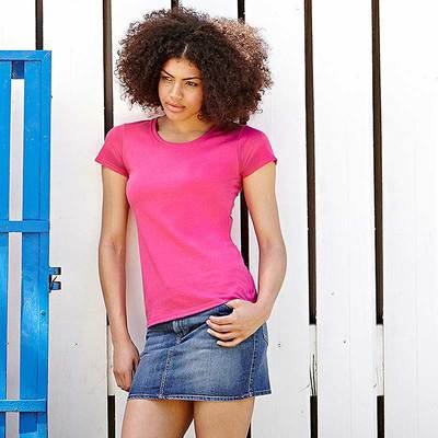 Fruit of the Loom - Lady-Fit T-Shirt 'Valueweight T' Schwarz