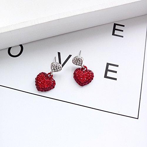 BAOZIV587 Temperament vielseitige einfache Schüler Sen lange Ohrringe Mini Ohrringe Halskette Halskette Kette Schmuck Zubehör weiblich, Liebe Ohrringe kurzen Absatz