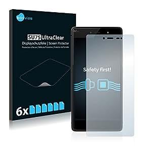 6x Savvies Film Protection pour Wiko Fever 4G Protection écran Film Protecteur Transparent