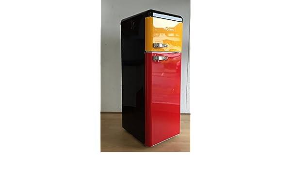 Retro Kühlschrank Five5cents : Retro kühlschrank belgien schwarz gelb rot glanz belgien