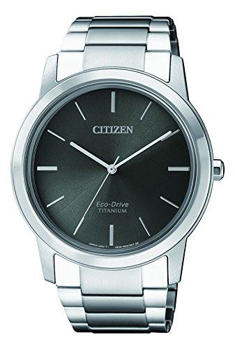 Citizen orologio cronografo solare uomo con cinturino in titanio aw2020-82h
