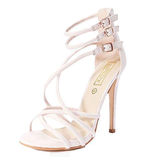 sendit4me Pale Pink, Suedette, High Heel, Strap, Shoes/Sandals Pink