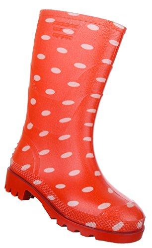 Kinderschuhe Stiefel Mädchen Gummi Regenstiefel Modell Nr2Rot