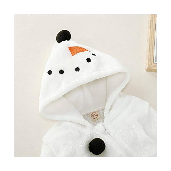 Mono de muñeco de Nieve Niñito Bebé Invierno Lindo Chico Chica Navidad Cosplay de muñeco de Nieve Disfraz Mameluco… 5