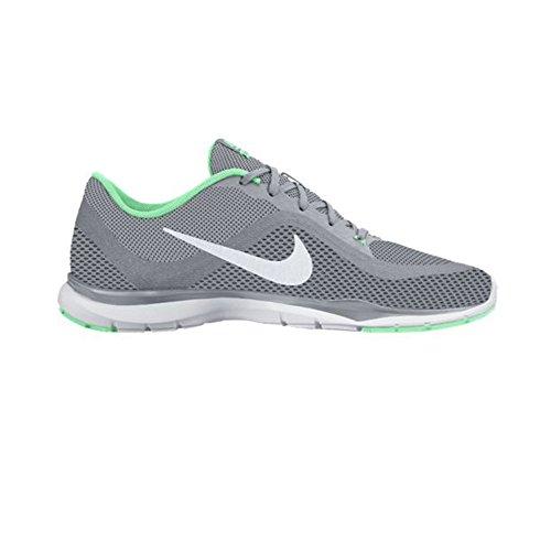 Nike Wmns Flex Trainer 6, Baskets Basses Femme, Taille Wolf Grey/Platinum/Green Glow