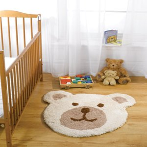 Kinderzimmer Teppich für Kinder Teddybär