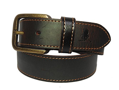 Squide Blue Brass Antique Dull Leather Belt