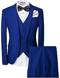 Herren ein knopf Anzug mit Weste +Fliege Hochzeit Party
