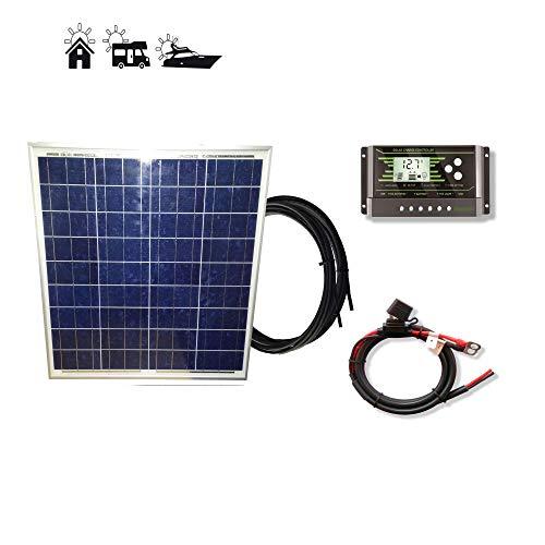 VIASOLAR Kit 50W Pro 12V Panel Solar policristalino