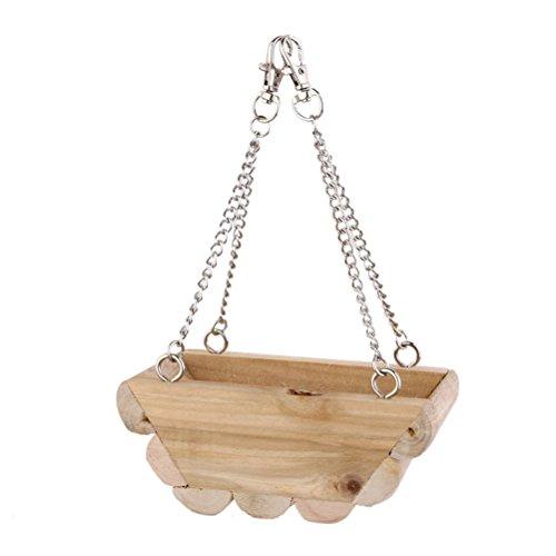 WINOMO Hanging Barca Swing Letto Gabbia Giocattoli per Topo Pappagallo Uccello Gatto Criceto