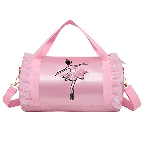 Mädchen Schulter Dance Bag Kinder Spitze Ballett Tote Bag Duffle Bag Umhängetasche für Ballerina Dancer Ballerina Duffle Bag