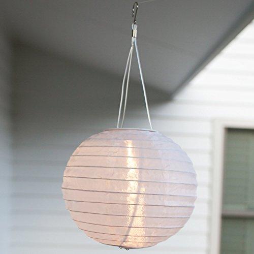 LED Solar Lampion Garten Deko weiß Lights4fun