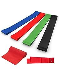 5er Gymnastikbänder Set Resistance bands Widerstandsbänder für Muskelaufbau Yoga und Therapie