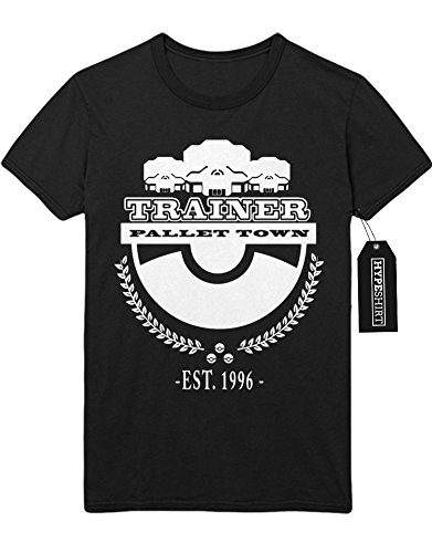 T-Shirt Pokemon Go Trainer Pallet Town Since 1996 Kanto Official Gym Leader X Y Nintendo Blue Red Yellow Plus Hype Nerd Game C123134 Schwarz