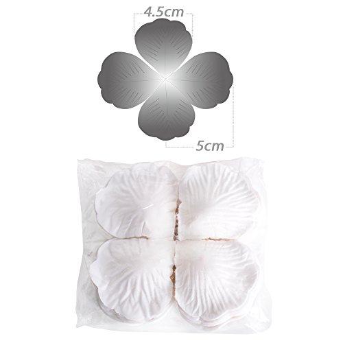 ! 2000 pz Petali Fiori di Rosa Bianco Artificiale Confetti Decor per Vetrine Servizi Fotografici Layout di Scena Nozze Festa Matrimonio miglior prezzo