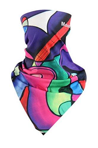 Masque d'équitation Masque triangulaire magique d'accessoires Masque Art Rayon Violet mélangé