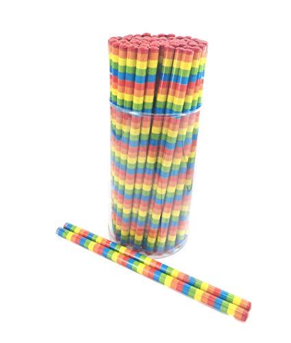 72 x Bleistifte   Regenbogen ┃Kindergeburtstag ┃ Mitgebsel ┃ 12 Stück
