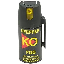 Ballistol Verteidigungssprays Pfeffer KO Fog Blister Aerosoldose, schwarz, 40 ml