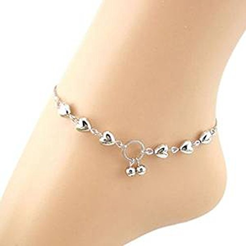 Fulltime(TM) Heart Cherries Women Ankle Chain Bracelet Barefoot Sandal Beach Foot Jewelry