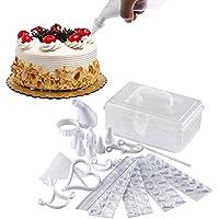 kamiustore Juego de 100 X decoración de Tartas, Dulces, Pasta de azúcar y glaseado